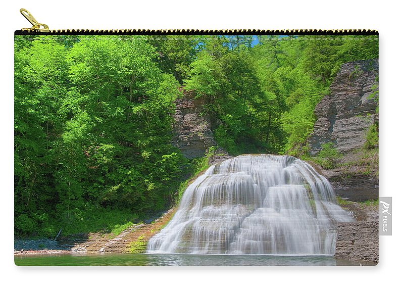 Waterfalls Carry-all Pouch featuring the photograph Lower Falls 0485 by Guy Whiteley