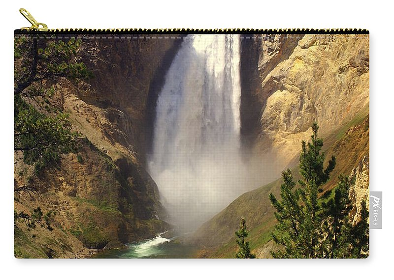 Waterfall Carry-all Pouch featuring the photograph Lower Falls by Marty Koch