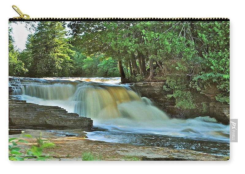 Landscape Carry-all Pouch featuring the photograph Lower Tahquamenon Falls by Michael Peychich