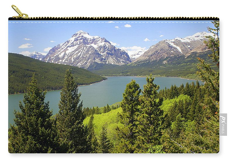 Two Medicine Lake Carry-all Pouch featuring the photograph Lower Two Medicine Lake by Marty Koch