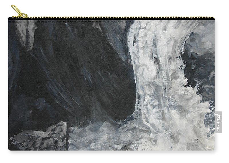 Water Carry-all Pouch featuring the painting Lower Vernal Black And White by Travis Day