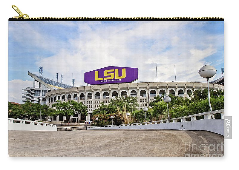 Lsu Carry-all Pouch featuring the photograph Lsu Tiger Stadium by Scott Pellegrin