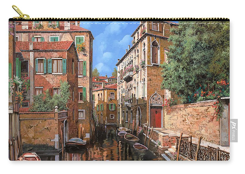 Venice Carry-all Pouch featuring the painting Luci A Venezia by Guido Borelli