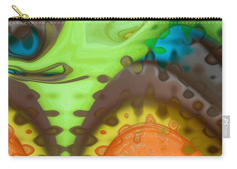 Digital Art Carry-all Pouch featuring the digital art Lucid Dreaming by Linda Sannuti