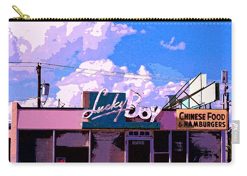 Diner Carry-all Pouch featuring the mixed media Lucky Boy by Dominic Piperata