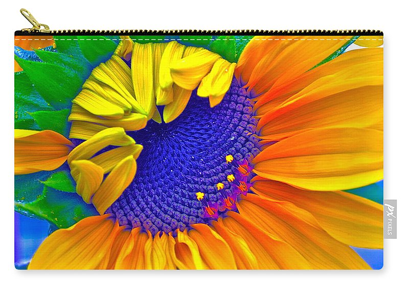 Photographs Carry-all Pouch featuring the photograph Lucky by Gwyn Newcombe