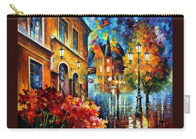 Afremov Carry-all Pouch featuring the painting Lucky Night by Leonid Afremov