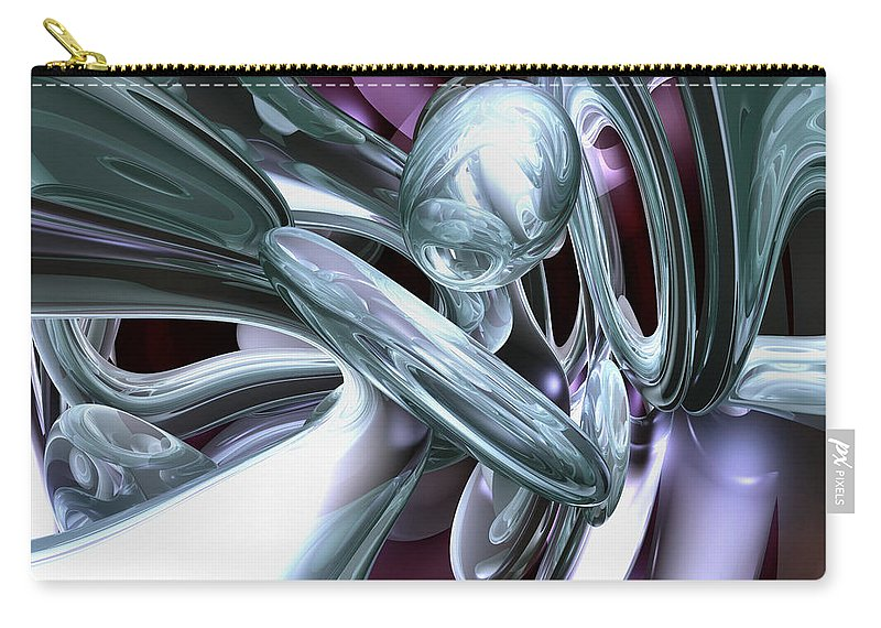 3d Carry-all Pouch featuring the digital art Lullaby Dreams Abstract by Alexander Butler