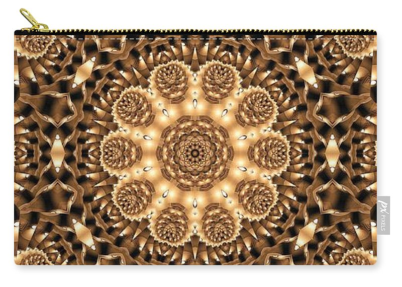 Kaleidoscope Carry-all Pouch featuring the photograph Kaleidoscope 86 by Ron Bissett
