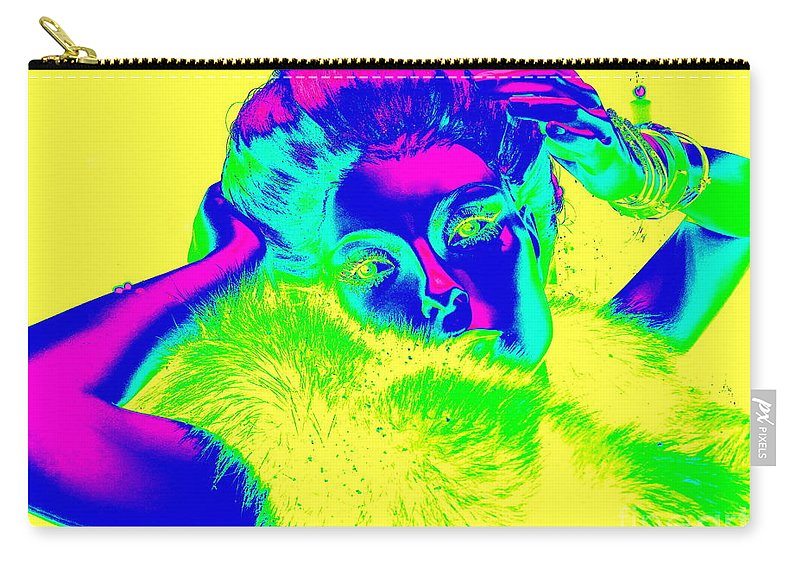 Mannequins Carry-all Pouch featuring the digital art Luminescent Lynda by Ed Weidman