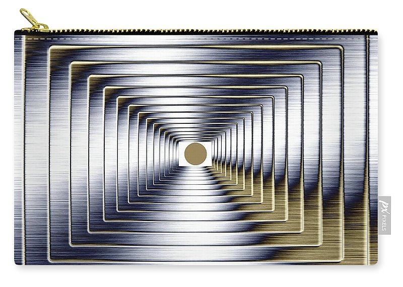 Abstract Carry-all Pouch featuring the digital art Luminous Energy 1 by Will Borden