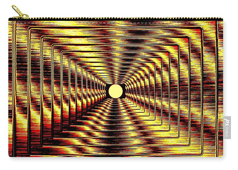 Abstract Carry-all Pouch featuring the digital art Luminous Energy 2 by Will Borden