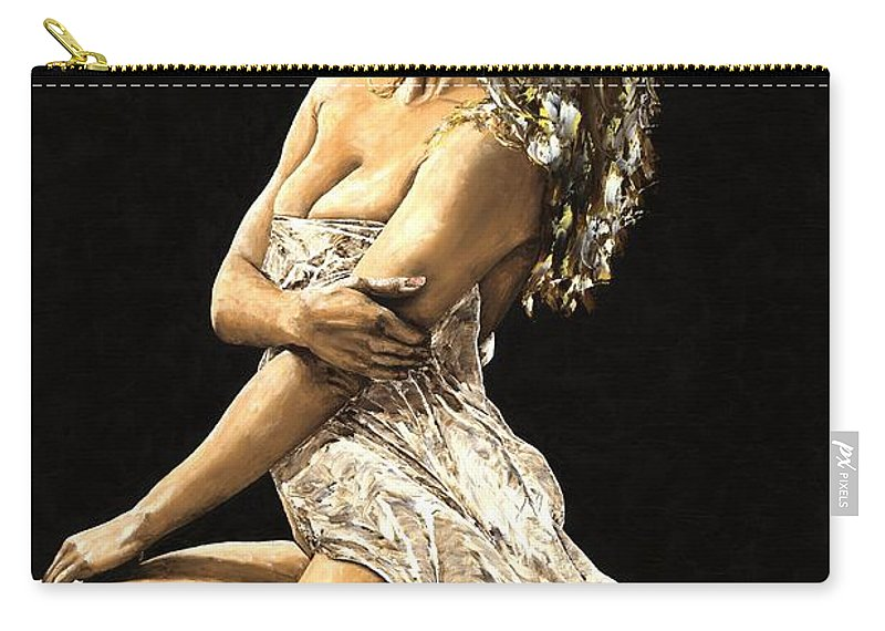 Nude Carry-all Pouch featuring the painting Luminous by Richard Young