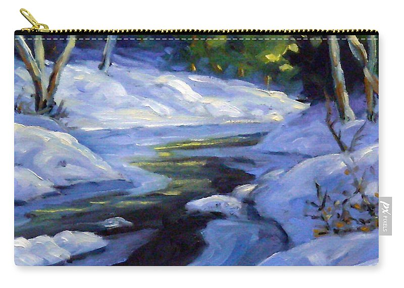 Art Carry-all Pouch featuring the painting Luminous Snow by Richard T Pranke