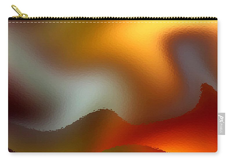 Abstract Carry-all Pouch featuring the digital art Luminous Waves by Ruth Palmer
