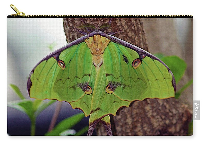 Luna Moth Carry-all Pouch featuring the photograph Luna Moth by Patti Whitten