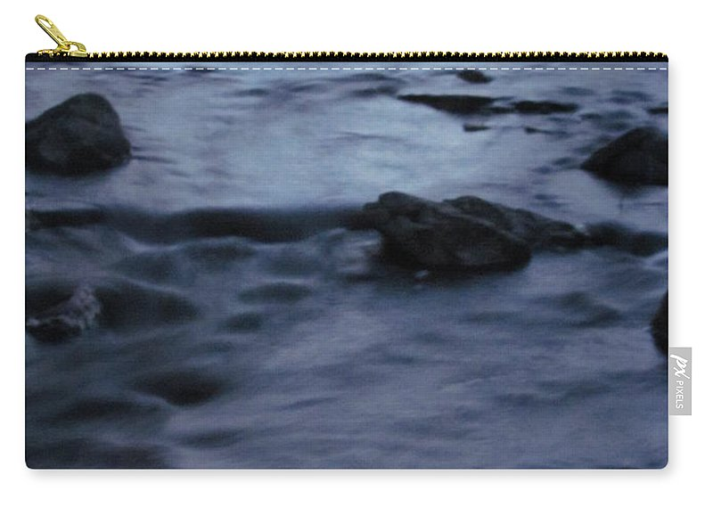 Moonlight Stream Photographs Moonlit Stream Canvas Prints Landscape Nature Brook Creek Carry-all Pouch featuring the photograph Lunar Flow by Joshua Bales