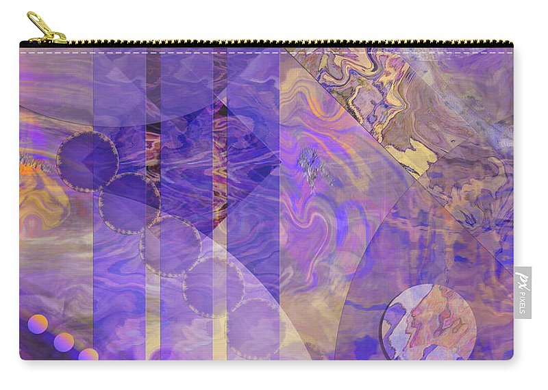 Lunar Impressions 2 Carry-all Pouch featuring the digital art Lunar Impressions 2 by John Beck