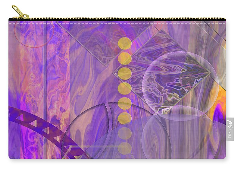 Lunar Impressions 3 Carry-all Pouch featuring the digital art Lunar Impressions 3 by John Beck