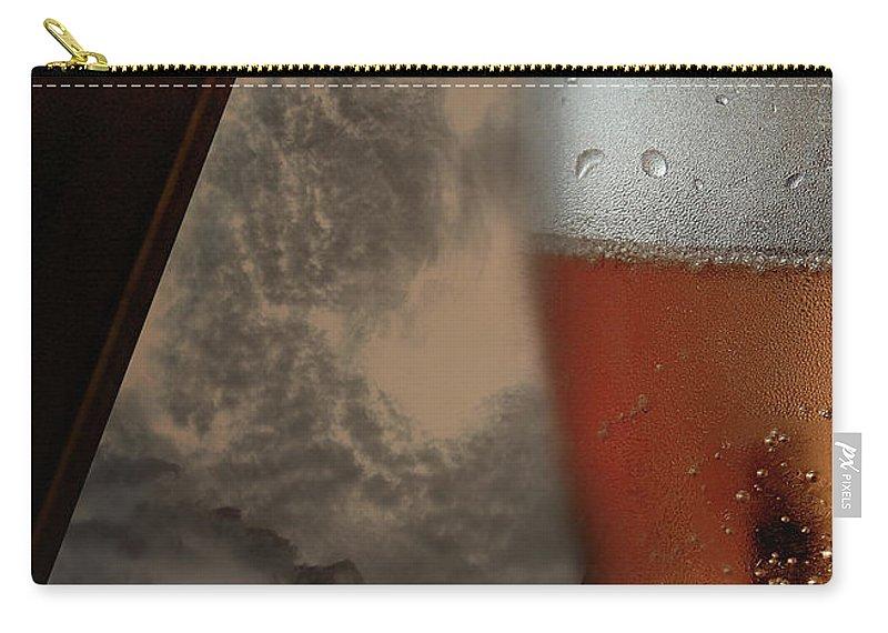 Vicki Ferrari Photography Carry-all Pouch featuring the photograph Lunar Moon Fizz Frame 3 by Vicki Ferrari