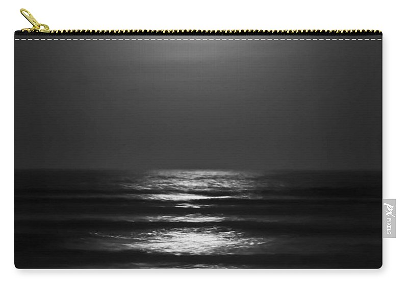 Moon Carry-all Pouch featuring the digital art Lunar Tides by DigiArt Diaries by Vicky B Fuller