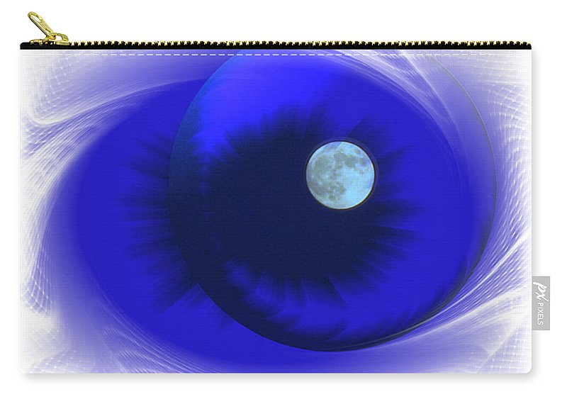 Moon Carry-all Pouch featuring the photograph Lunarblue by Joyce Dickens