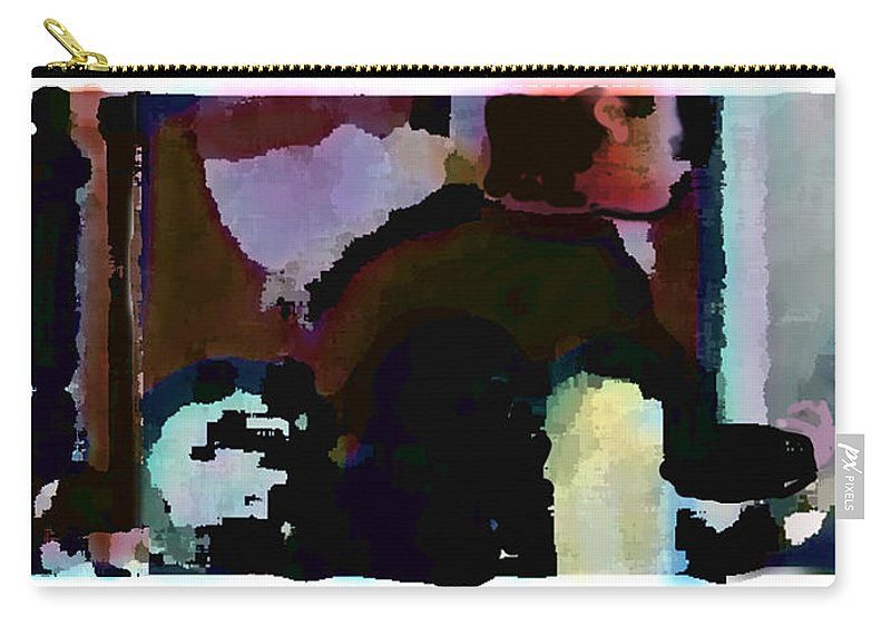 Abstract Expressionism Carry-all Pouch featuring the painting Lunch counter by Steve Karol