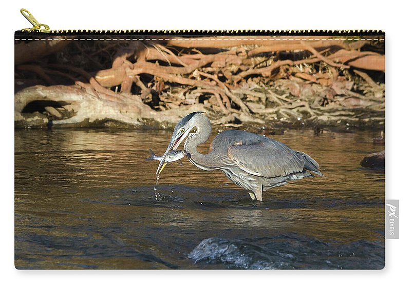 Heron Carry-all Pouch featuring the photograph Lunch On The Neuse River by George Randy Bass
