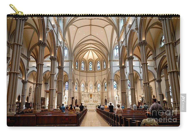 Allegheny County Carry-all Pouch featuring the photograph Lunchtime Mass At Saint Paul Cathedral Pittsburgh Pa by Amy Cicconi