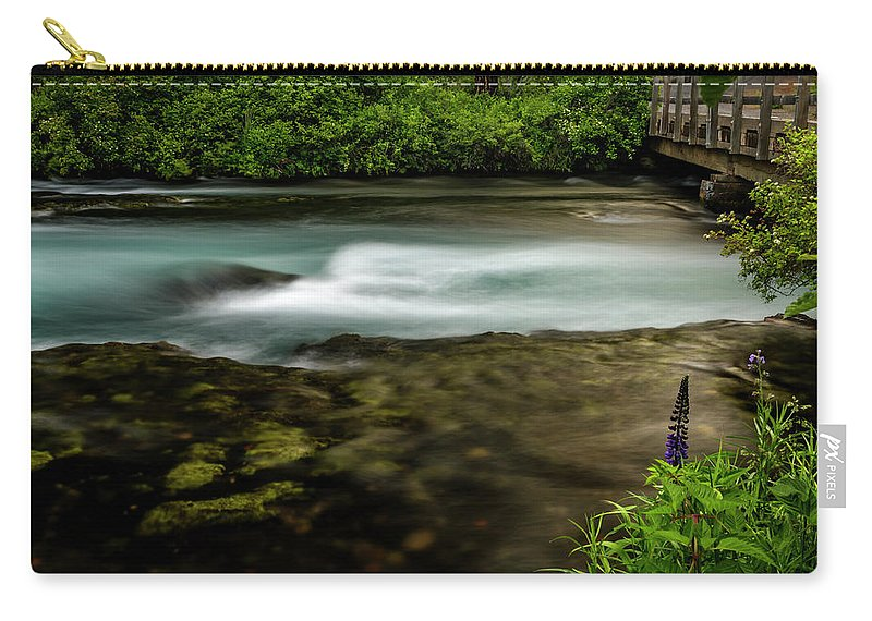 River Carry-all Pouch featuring the photograph Lupine At The Metolius by Cat Connor