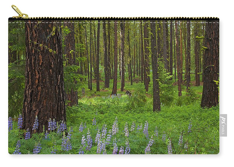 Forest Carry-all Pouch featuring the photograph Lupine Carpet by Mike Dawson