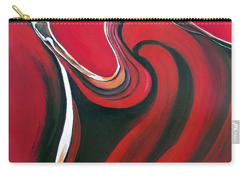 Abstract Carry-all Pouch featuring the painting Luscious Red by Ruth Palmer