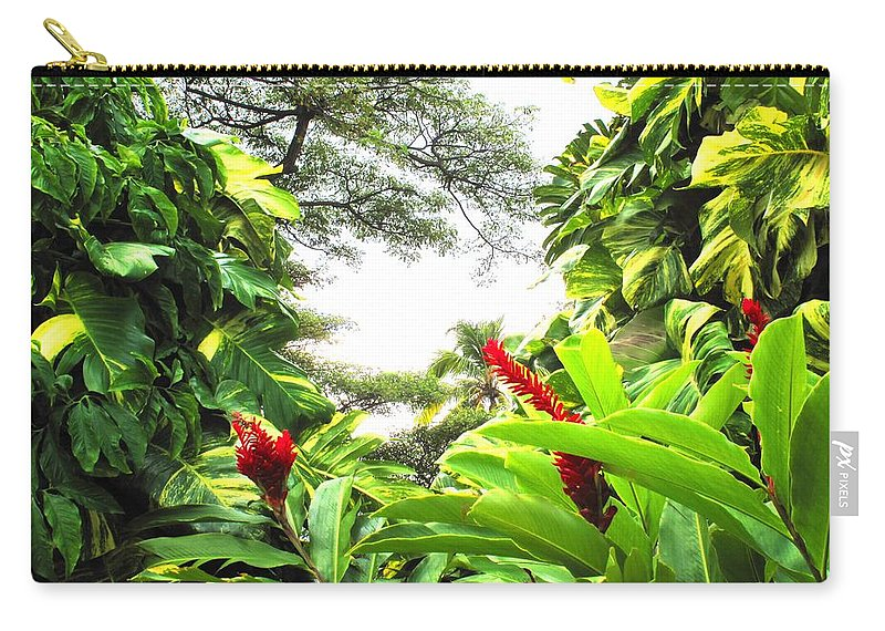 St Kitts Carry-all Pouch featuring the photograph Lush by Ian MacDonald