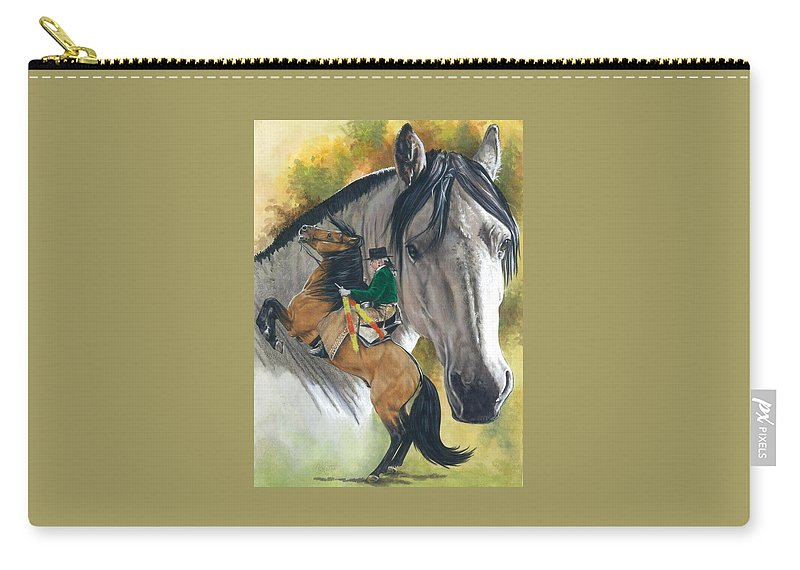 Hoof Stock Carry-all Pouch featuring the mixed media Lusitano by Barbara Keith