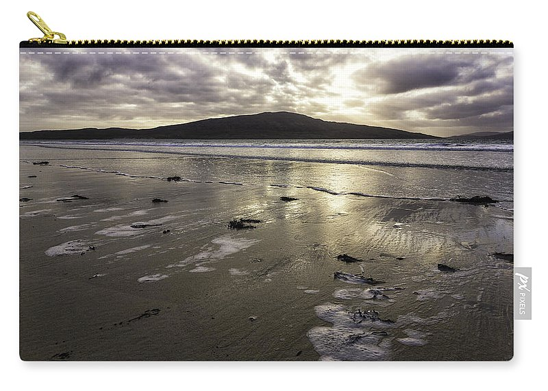 Sunset Carry-all Pouch featuring the photograph Luskentyre Beach Sunset by Fran Gallogly
