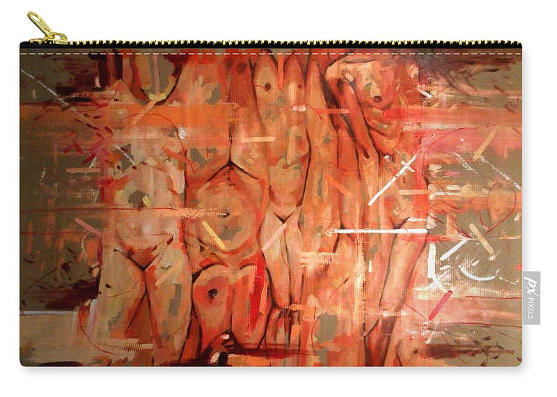 Women Carry-all Pouch featuring the painting Lust II by Flamur Miftari