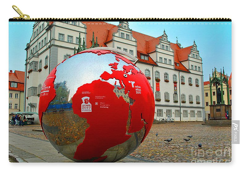 Wittenberg Carry-all Pouch featuring the photograph Lutherstadt World by Jost Houk
