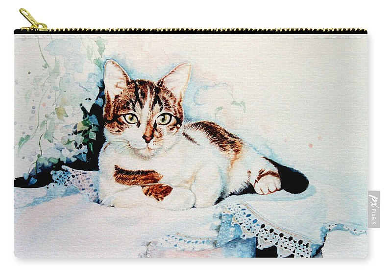 Painting Of Tyke Carry-all Pouch featuring the painting Luxury Lounge by Hanne Lore Koehler