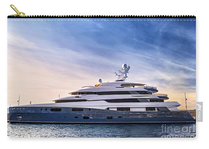 Yacht Carry-all Pouch featuring the photograph Luxury Yacht by Elena Elisseeva