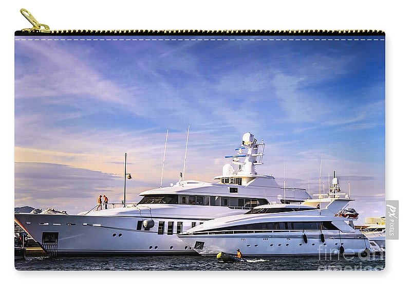 Yacht Carry-all Pouch featuring the photograph Luxury Yachts by Elena Elisseeva