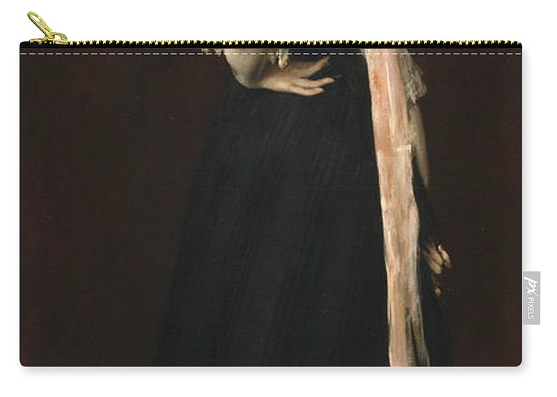 William Merritt Chase Carry-all Pouch featuring the painting Lydia Field Emmet by William Merritt Chase