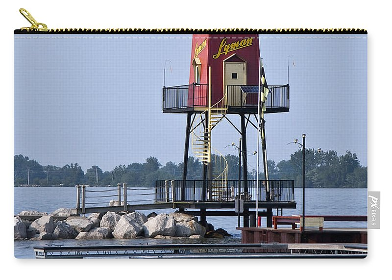 Lighthouse Carry-all Pouch featuring the photograph Lyman Harbor Lighthouse by Dale Kincaid