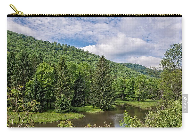 Clouds Carry-all Pouch featuring the photograph Lyman Run State Park by Guy Whiteley