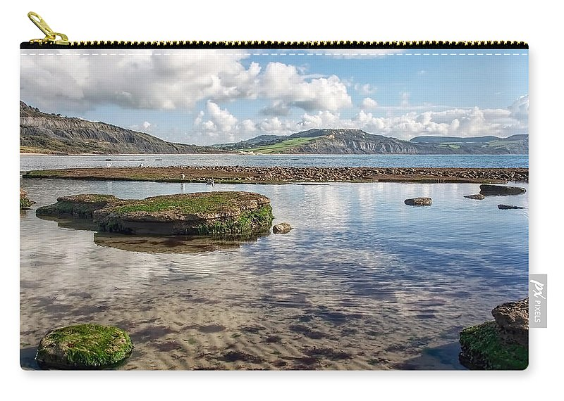 Lyme-regis Carry-all Pouch featuring the photograph Lyme Regis Seascape 3 - October by Susie Peek