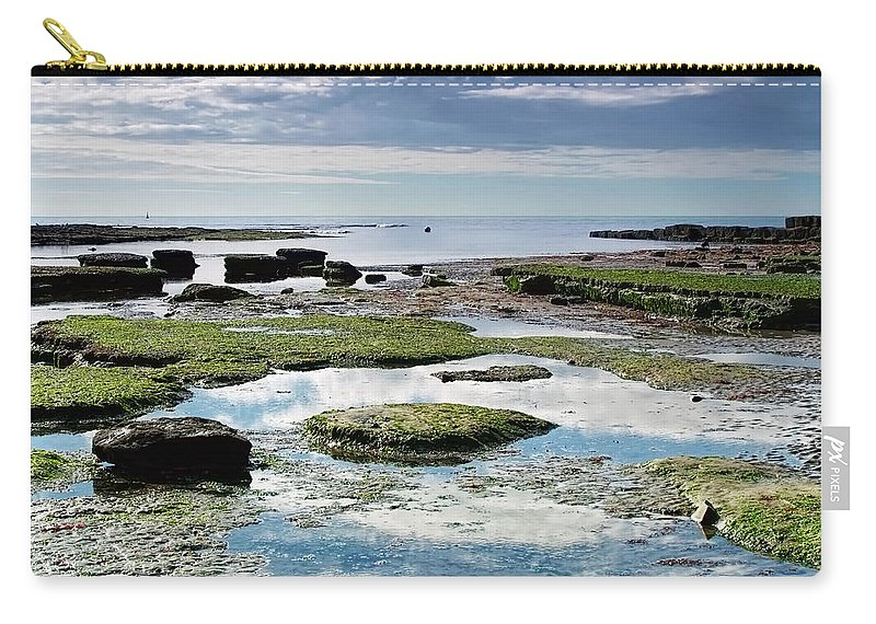Lyme-regis Carry-all Pouch featuring the photograph Lyme Regis Seascape 4 - October by Susie Peek