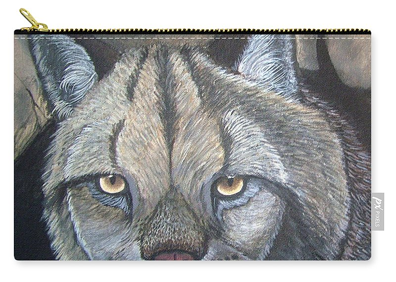 Lynx Carry-all Pouch featuring the painting Lynx by Nick Gustafson