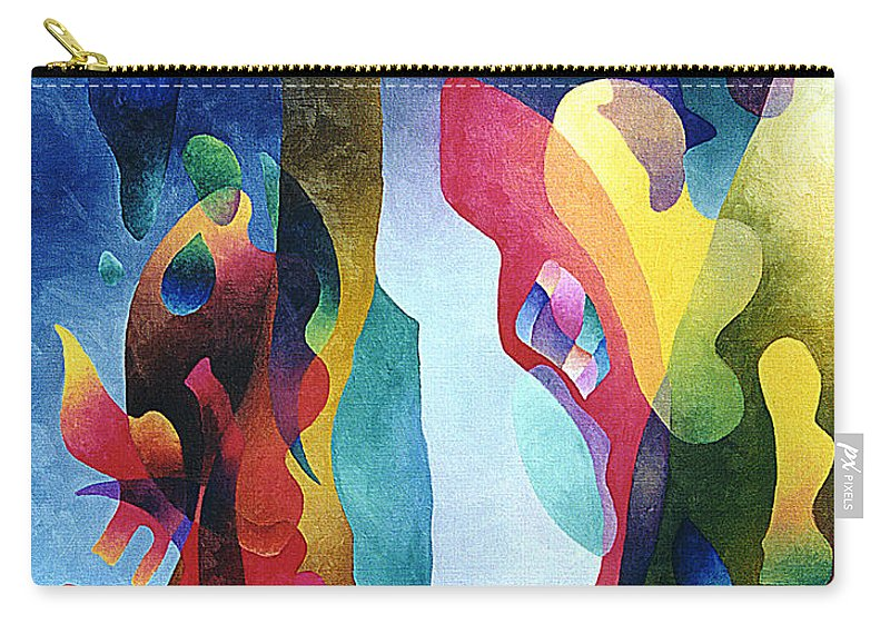 Abstract Carry-all Pouch featuring the painting Lyrical Grouping by Sally Trace