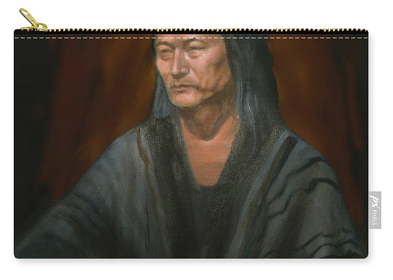 Carry-all Pouch featuring the painting #m14'11 by Sam Shacked