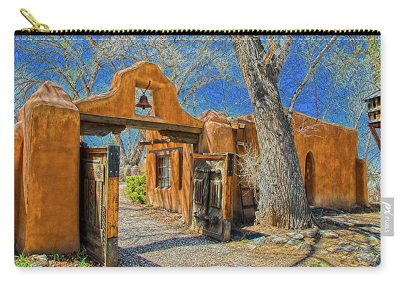 Mabel Carry-all Pouch featuring the photograph Mabel's Gate by Charles Muhle