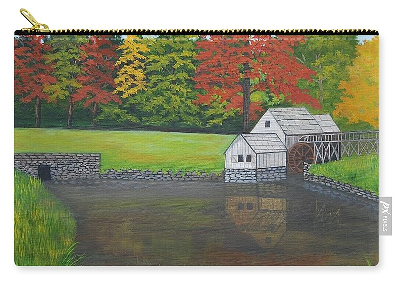 Landscape Carry-all Pouch featuring the painting Mabry Grist Mill by Ruth Housley